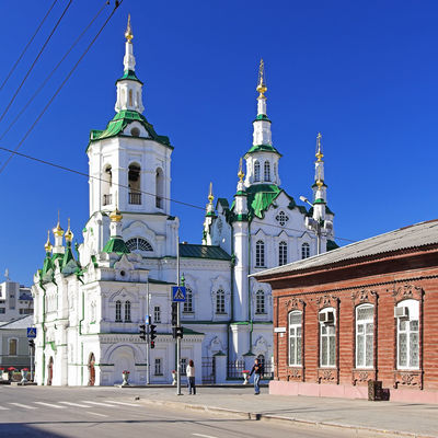 Bild vergrößern: Church of the Saviour in Tyumen at summer day, Siberia, Russia